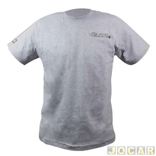 Camiseta - Auto+ gola U tamanho GG - cinza - Automais 760c7394ee1fc
