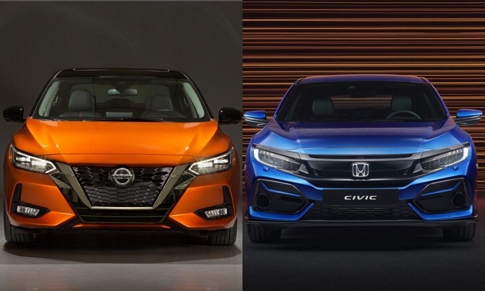 Honda Civic e Nissan Sentra [divulgação]