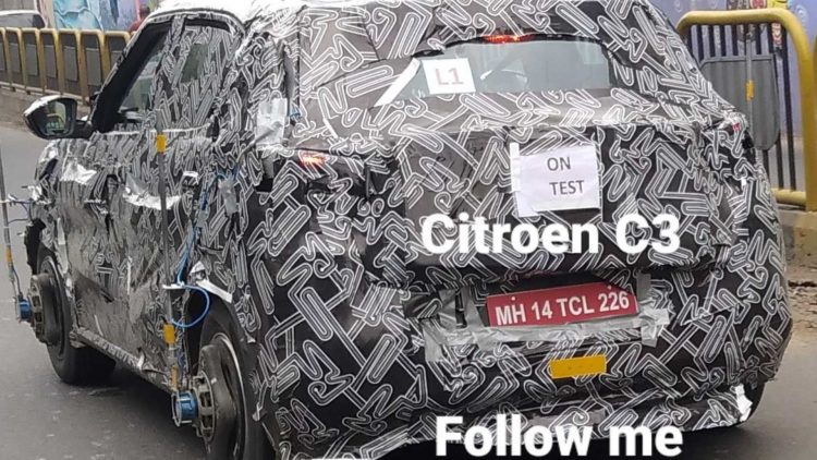 Sucessor do Citroën C3 [@rahul_auto_spy]