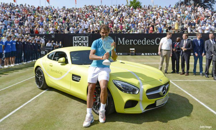 Mercedes-AMG GT que Rafael Nadal ganhou em 2015 [divulgação]
