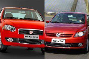Fiat Palio vs. Volkswagen Gol [divulgação]