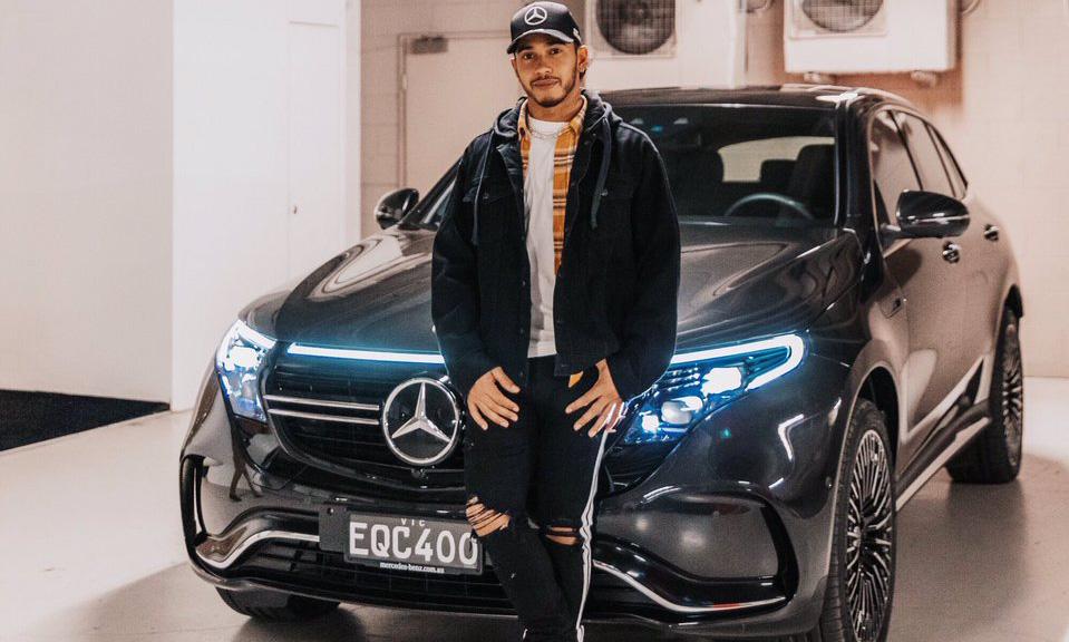 Mercedes-Benz EQC de Louis Hamilton [divulgação]