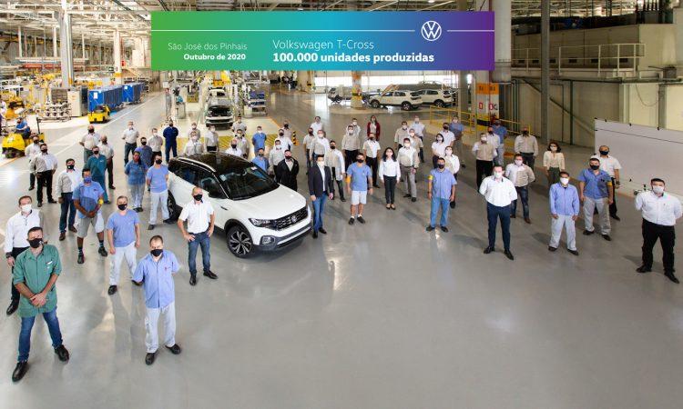 Volkswagen T-Cross 100 mil [divulgação]