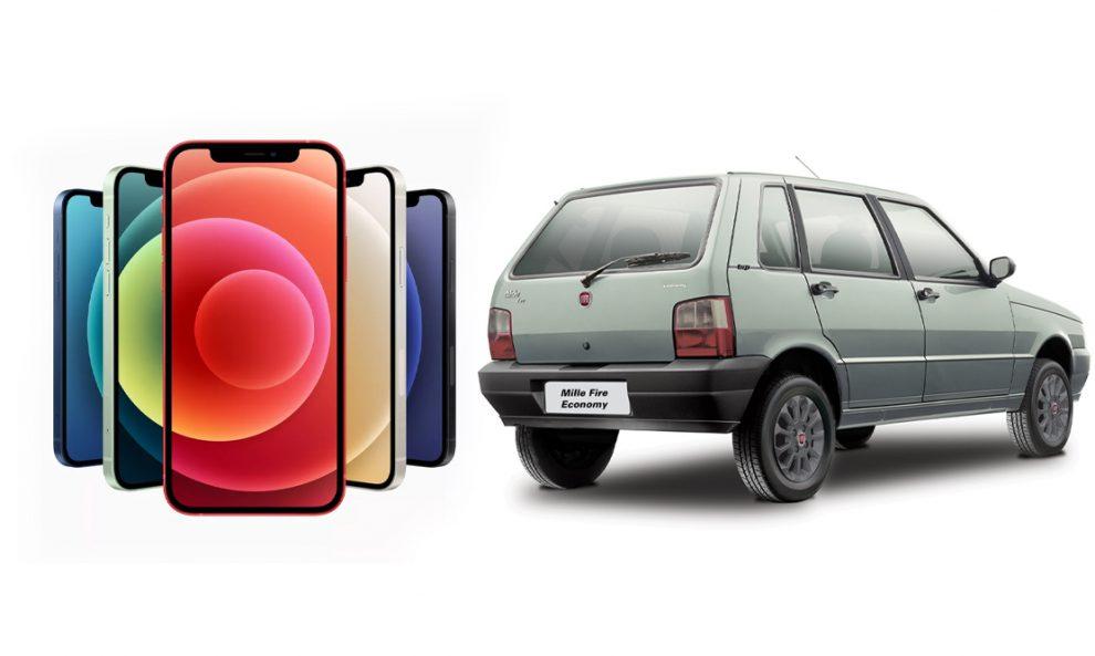 iPhone 12 ou um Fiat Uno? [divulgação]