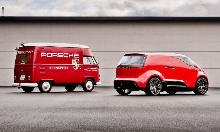 Porsche Renndienst e Volkswagen Kombi [divulgação]