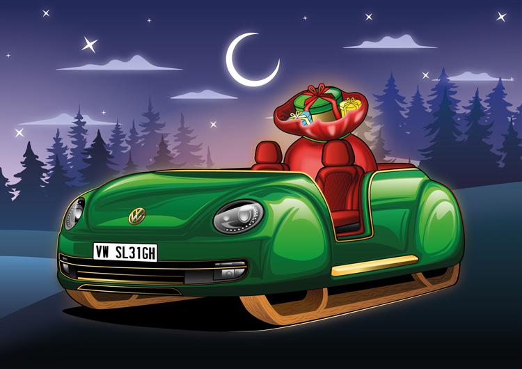 Trenó Volkswagen Fusca [divulgação]