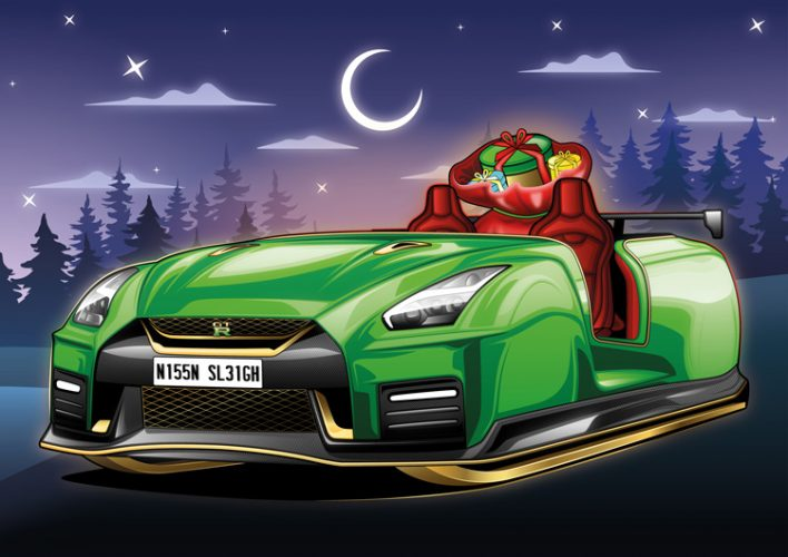 Trenó Nissan GT-R [divulgação]