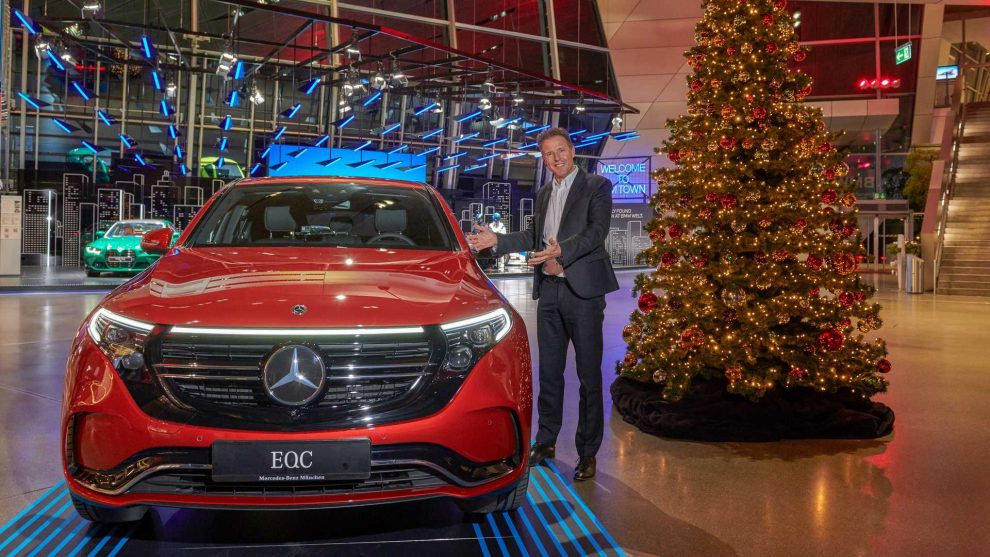Mercedes-Benz EQC no museu da BMW [divulgação]