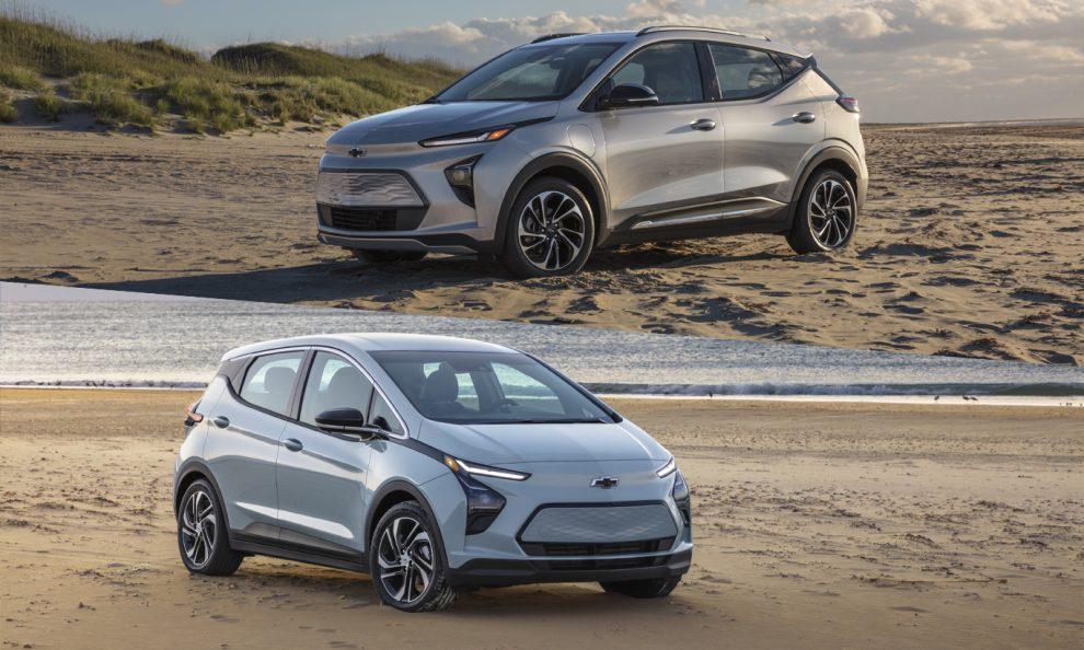 Chevrolet Bolt EUV e Bolt EV [divulgação]