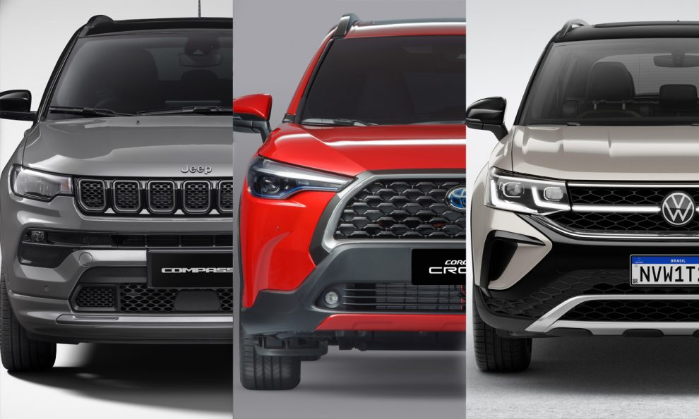 Jeep Compass / Toyota Corolla Cross / Volkswagen Taos [divulgação]