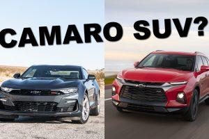 Chevrolet Camaro e Chevrolet Blazer [divulgação] SUV