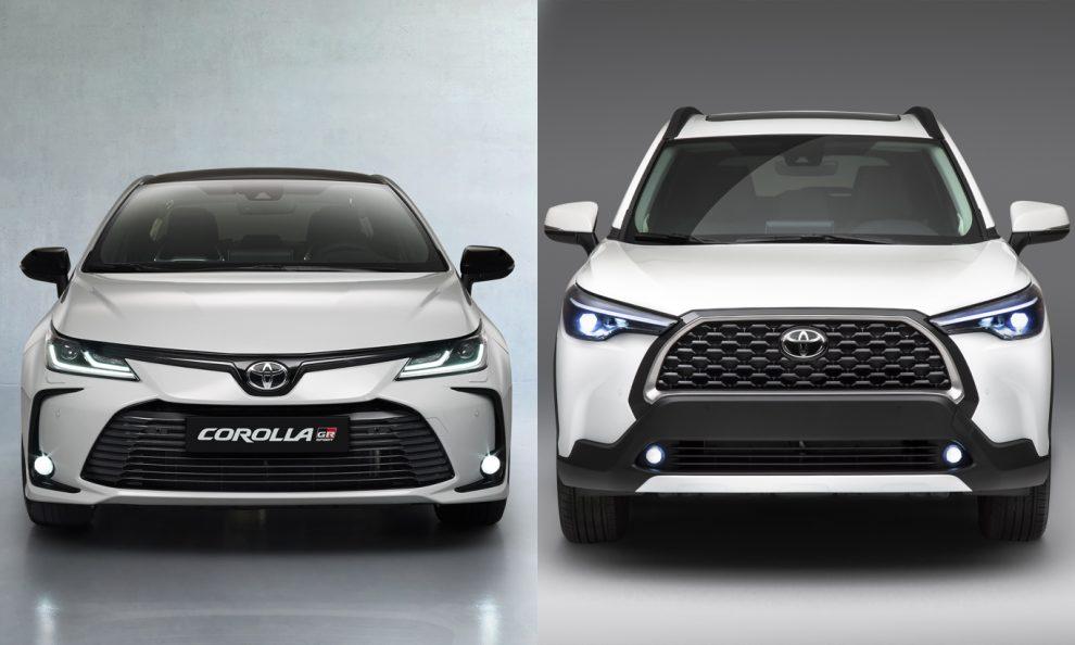 Toyota Corolla e Corolla Cross [divulgação]