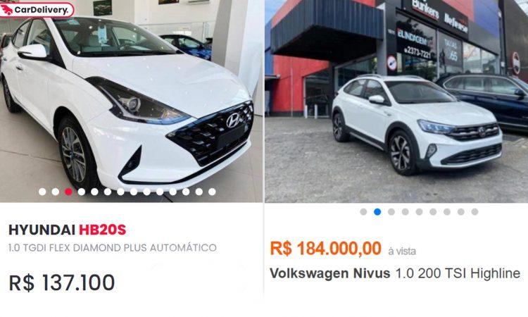 Hyundai HB20S e Volkswagen Nivus [webmotors e iCarros]