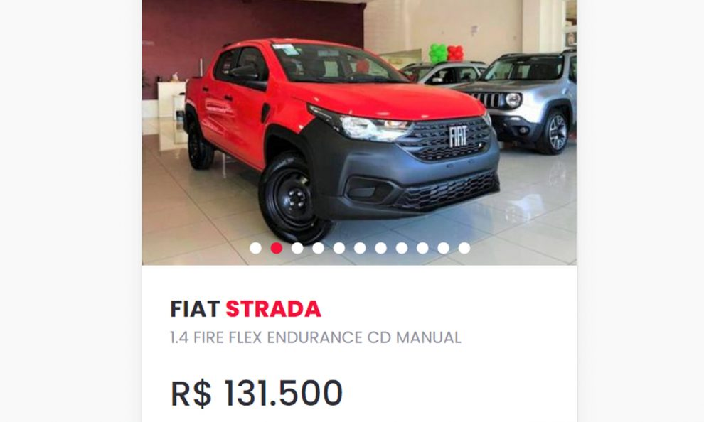 Fiat Strada blindada [webmotors]